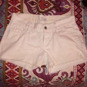 White old navy jean shorts